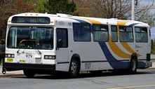 "Not exactly as shown: New buses for ""MetroX"" will be of lesser grade than the ""city"" buses in the fleet."