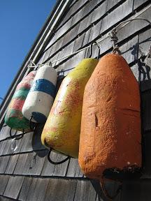 Fishing buoys in Peggy's Cove Nova Scotia