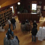 The welcome area at Jost Vineyards in Malagash, Nova Scotia