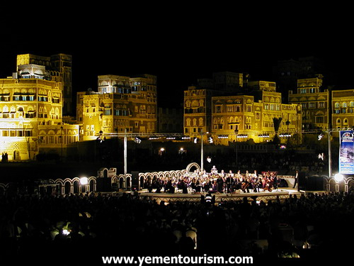 Concert infront of the old city in Sana'a, Yemen