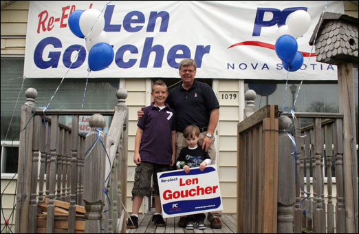 Bedford-Birch Cove MLA Len Goucher (PC) held a 'Strawberry Sunday' at his election headquarters on Sunday. During the campaign event, voters got to meet Goucher while enjoying some strawberry shortcake. Goucher is seeking re-election in the provincial election on June 9, 2009.