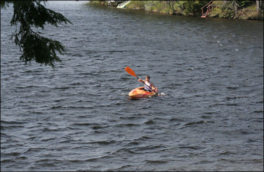Kids were enjoying Paper Mill Lake a little earlier than usual thanks to Friday's freaky hot weather.