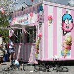 Bedfordites cool off with some Pinky's ice cream on a hot June Sunday.