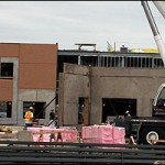 Bedford's new French high school is going up quickly in the Ravines subdivision of Bedford South. Story to follow.