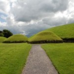 The Great Mound at Knowth is similar in size to Newgrange and is surrounded by 18 smaller satellite mounds.
