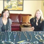 """""""Gilded Girls"""" Diane Walker (left) and Kim Richardson held a successful initial launch of their business this past Sunday."""