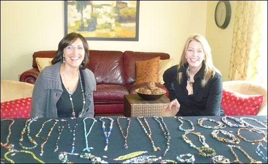 """Gilded Girls"" Diane Walker (left) and Kim Richardson held a successful initial launch of their business this past Sunday."