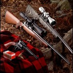pistol and rifles