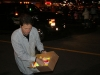 Halifax Mayor Peter Kelly hands out glow sticks at the 2009 Santa Claus Parade in Beford, Nova Scotia.
