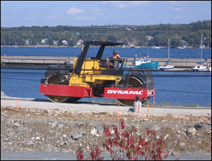 Machines have been hard at work for the grand opening of the new Bedford Harbourwalk.