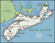Map of Nova Scotia