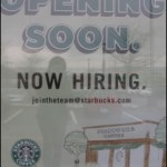 The sign is up for a Starbucks Coffee to open in the old Dairy Queen location, but no set date has yet to be confirmed.