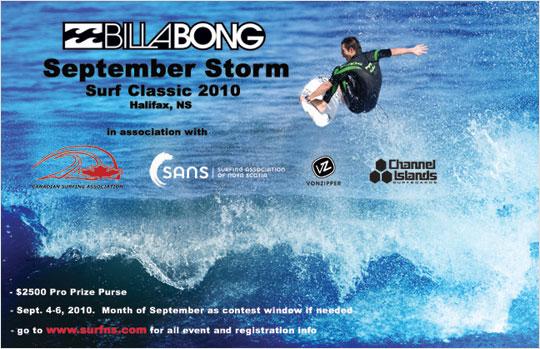 Billabong September Storm Surf Classic 2010 poster