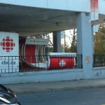 The folks at CBC putting the finishing touches on their float for The 2010 Parade Of Lights.