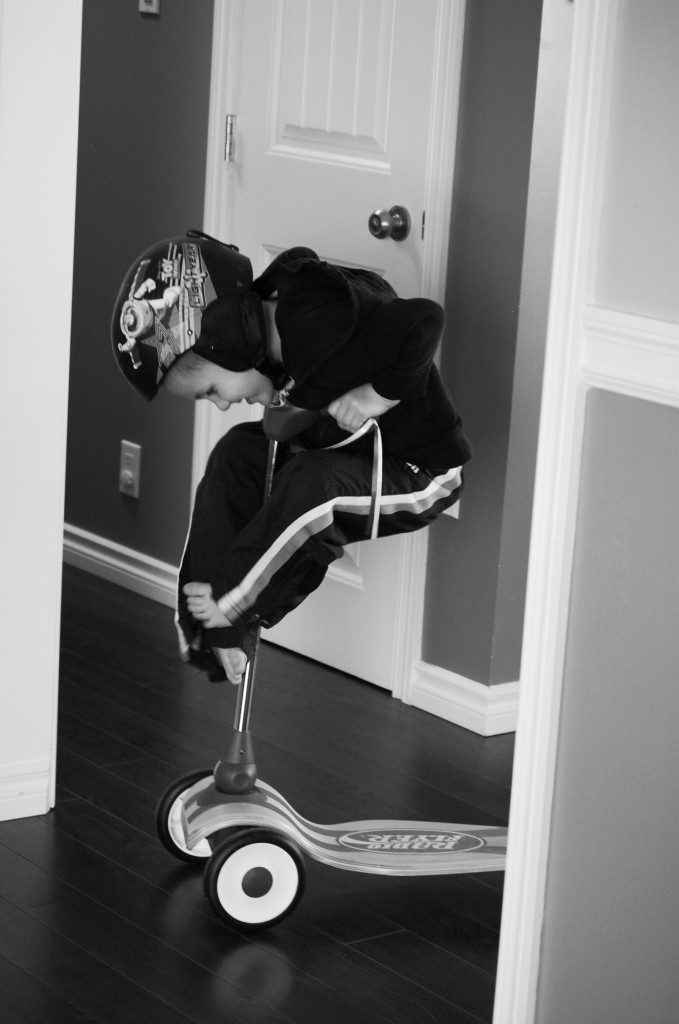 wordless wednesday: scooters in the house? apparently acceptable.