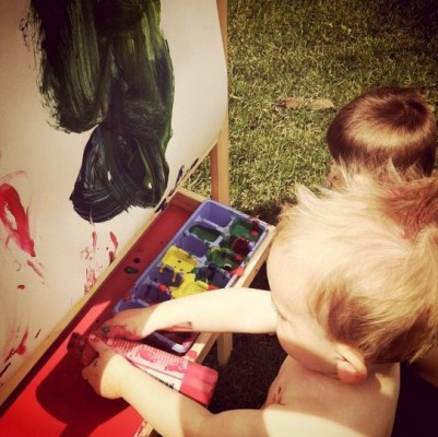 wordless wednesday: take the paint outside