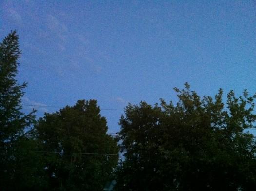 wordless wednesday: the midnight sun from my front door
