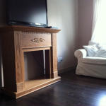 before after | painted fireplace | diy