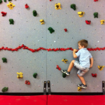 wordless wednesday: a match made in heaven …my rock climbing preschooler