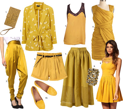 Fall in love with Mustard Coloured Clothing