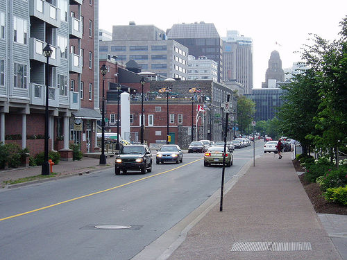 Lower Water Street in Halifax
