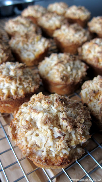 Apple Buttermilk Muffins with Coconut Crumble