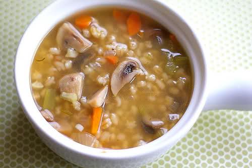 Mushroom Barely Soup