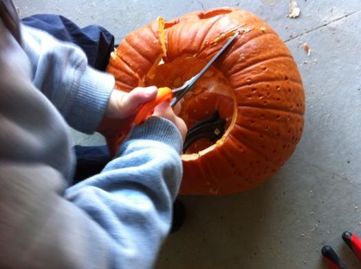 "wordless wednesday: post halloween pumpkin ""smash"""