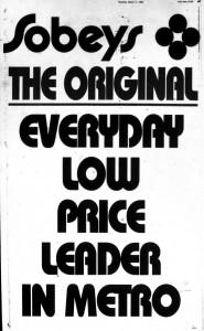 Retro Wednesday: March 1993 Sobeys AD