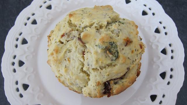 Muffin Monday: Ricotta, Basil Sun-dried Tomato