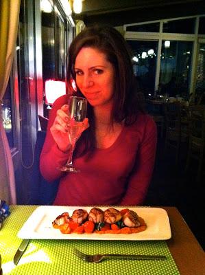 Post-run dinner at Saege