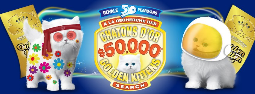 Royale Golden Kittens 50th Anniversary Contest: What Would You Do With $50,000?