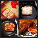 Applewood Smoked Cheddar Grilled Cheese w/ Tomato Turkey Bacon