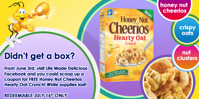 HOC Banner Something Old is New Again and Honey Nut Cheerios Hearty Oat Crunch and 25 FPC Coupons