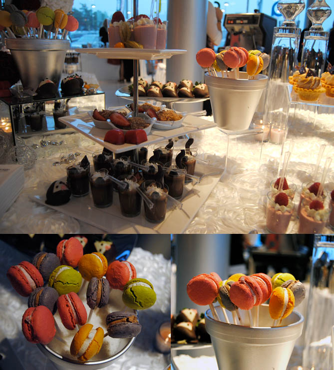 Fancy desserts. I was clearly enamoured by the macarons on a stick. That's Martha Stewart levels of awesome.