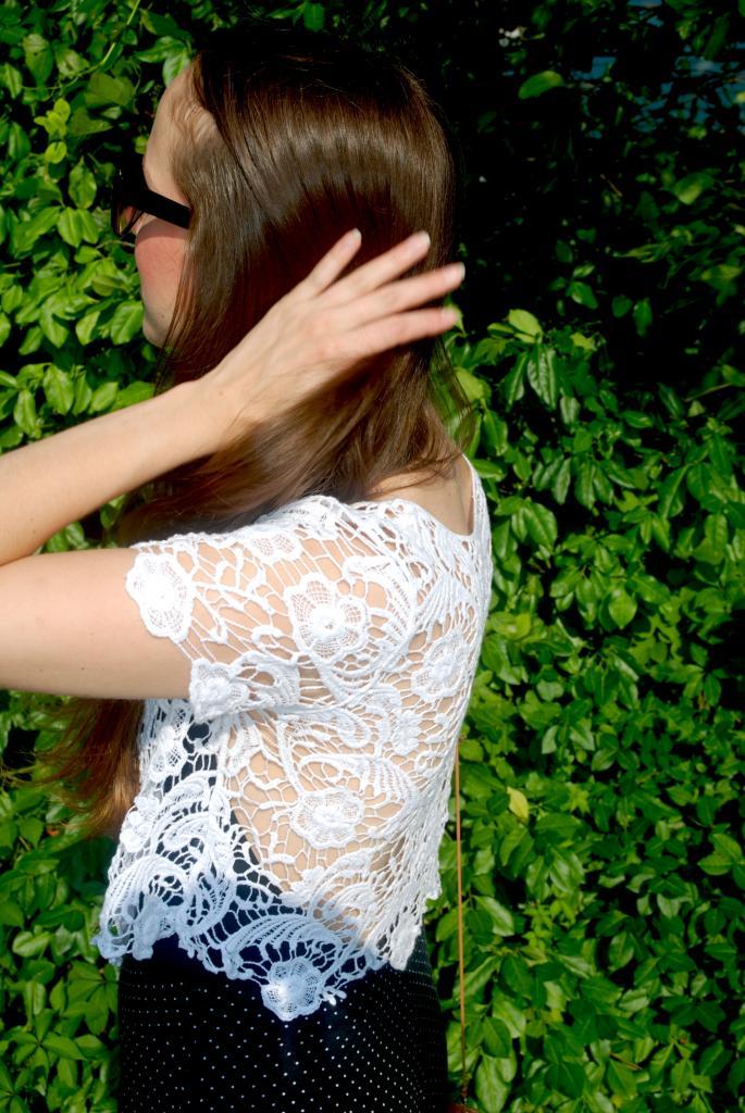 , polka dot, longhair, ombre, joe fresh sunglasses, sunnies, adorn by sarah lewis