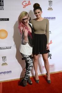 Even Kendell (Kylie? Something with a K?) Jenner/Kardashian looks sad for Avril.