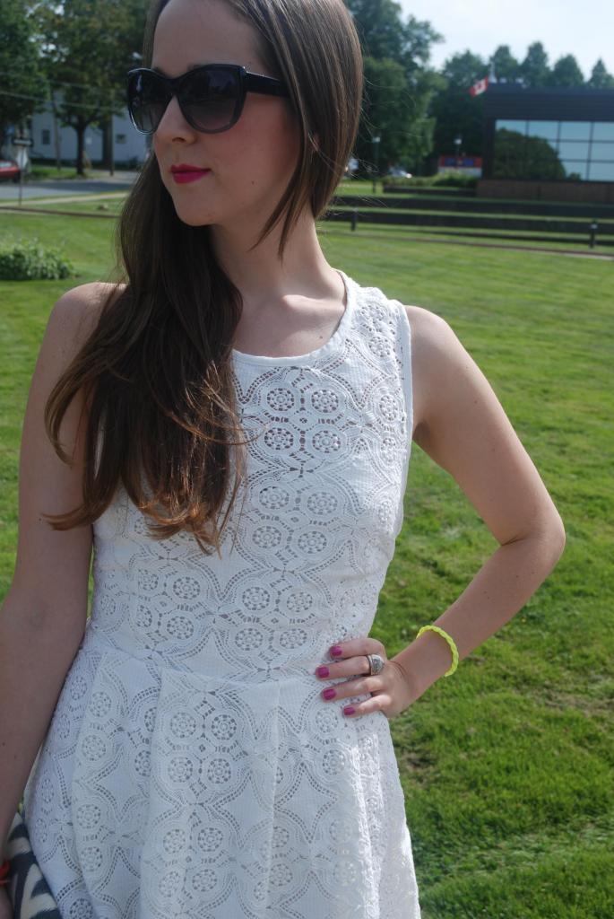 Funktional Venice Dress, Shopbop, White Lace Dress, Neon, Exposed Zipper, White, Summer Looks, Sun Dresses