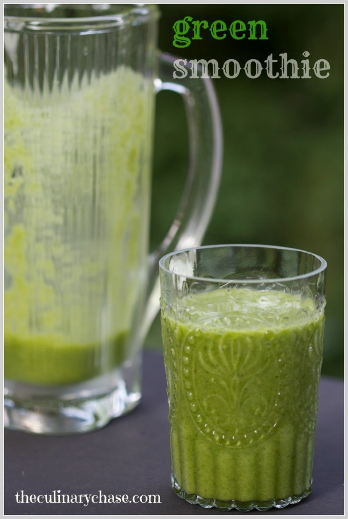 green smoothie by The Culinary Chase