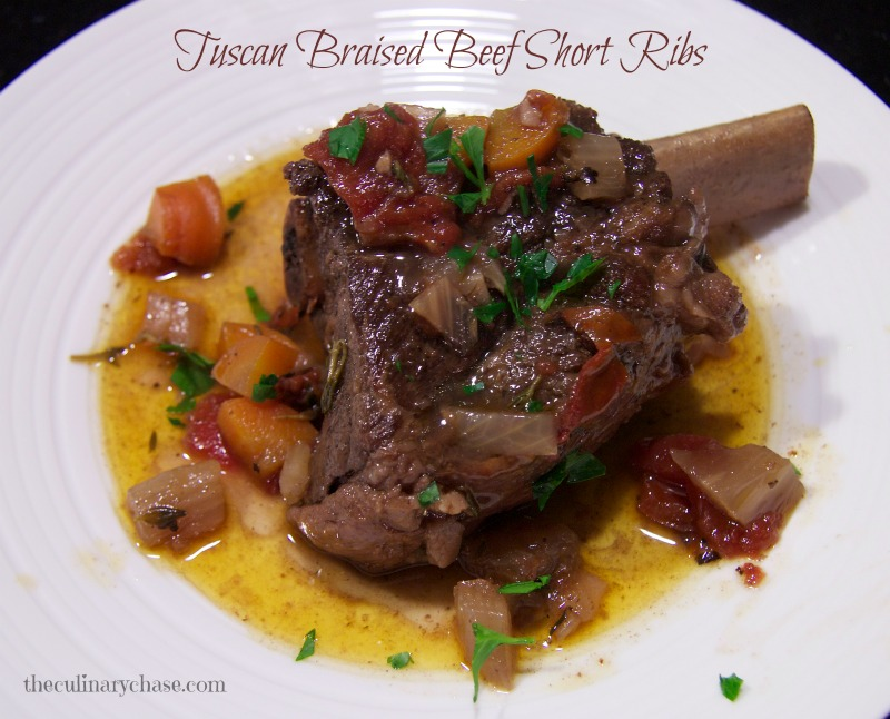 Tuscan Braised Beef Short Ribs by The Culinary Chase