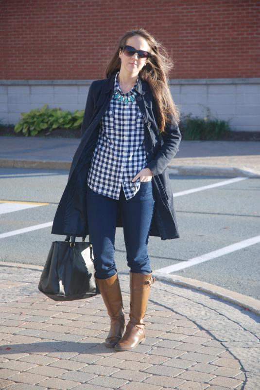 Trench Coats, Ridding Boots, Gap Jeans, Sunnies, Dark Jeans