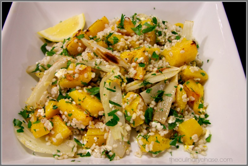 Barley Salad with Roasted Squash and Fennel by The Culinary Chase