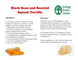 Black Bean and Roasted Squash Tortillas
