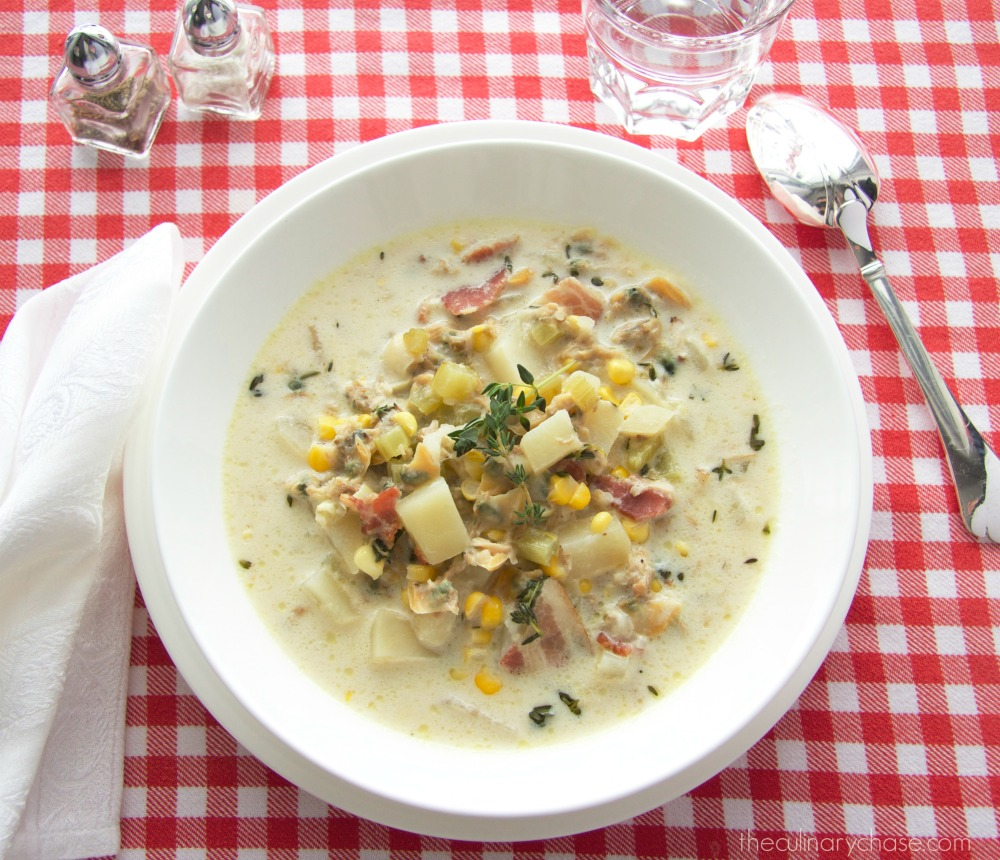 clam chowder by The Culinary Chase