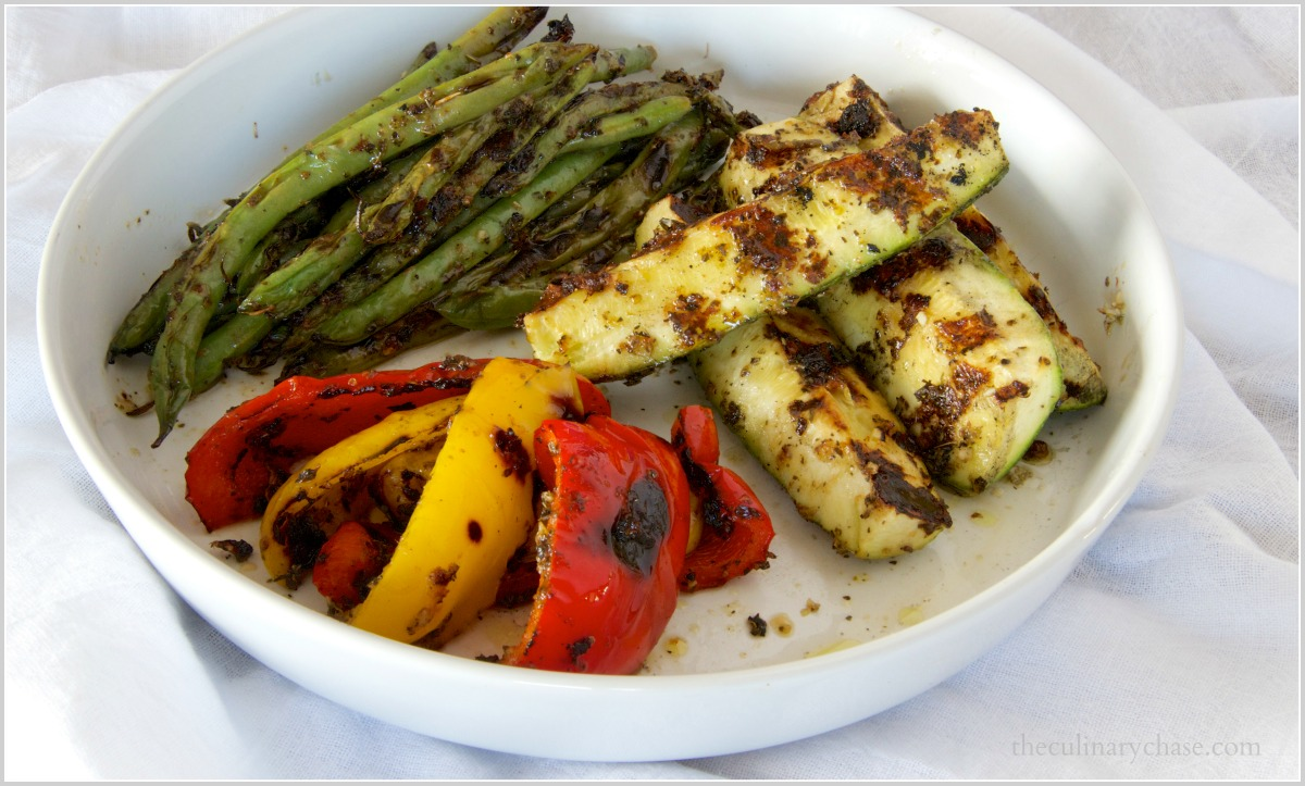 grilled veggies by The Culinary Chase
