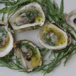 Grilled Oysters with Tarragon Butter