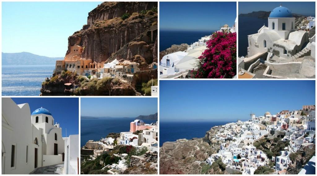 Santorini collage