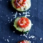 zucchini & tomato pizza