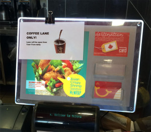 They Figured out Coffee Rush, but McD's cant figure out a lunch line