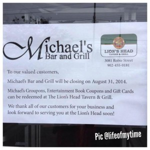 The fate of Michael's Bar is now known